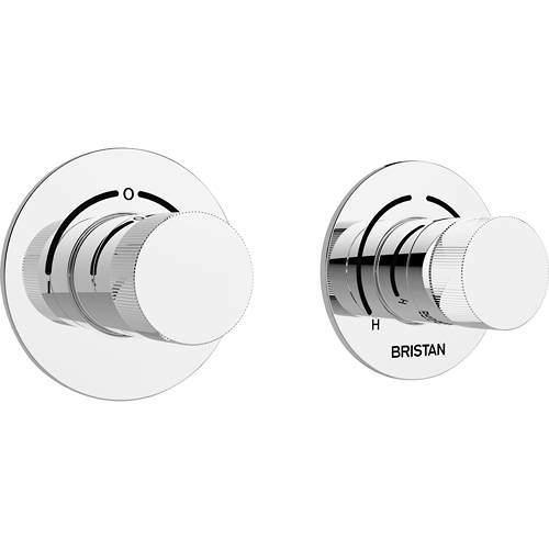 Bristan Orb Concealed Shower Valve (2 Outlets, Chrome).