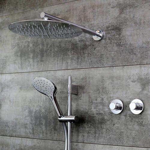 Bristan Orb Shower Pack With Arm, Square Head & Slide Rail (Chrome).