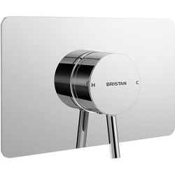 Bristan Prism Concealed Single Control Shower Valve With Back Plate (Chrome).