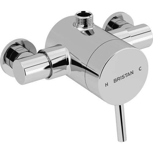 Bristan Prism Exposed Single Control Shower Valve (1 Top Outlet, Chrome).