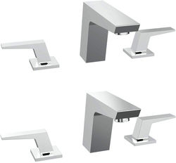 Bristan Sail 3 Hole Basin & Bath Filler Tap Pack (Chrome).