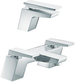 Bristan Sail Mono Basin & Bath Filler Tap Pack (Chrome).
