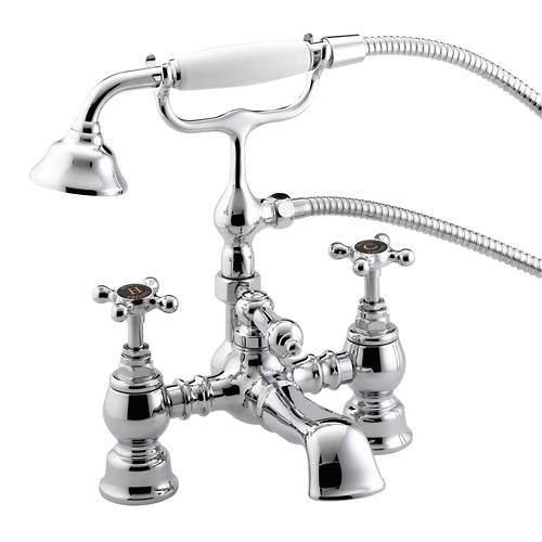 Bristan Trinity Bath Shower Mixer Tap (Chrome).