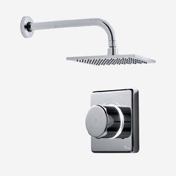 "Digital Showers Digital Shower Valve, Remote & 8"" Square Shower Head (HP)."