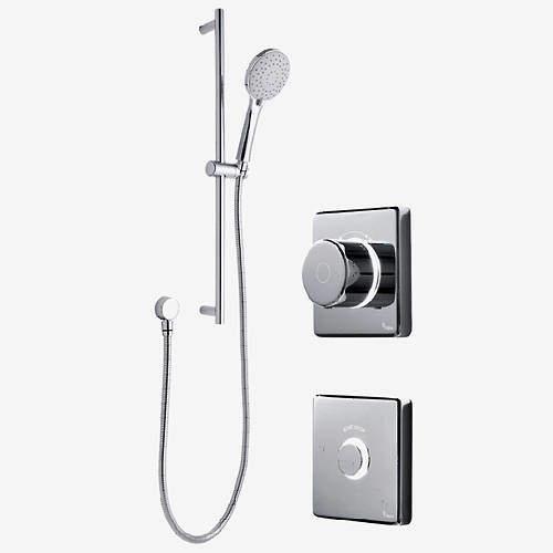 Digital Showers Digital Shower Valve, Remote & Slide Rail Kit (HP).