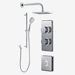 Digital Showers Digital Shower Pack, Slide Rail, Square Head & Remote (HP)