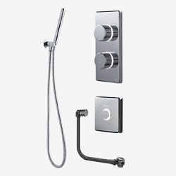 Digital Showers Twin Digital Shower Pack, Filler, Shower Kit & Remote (HP).