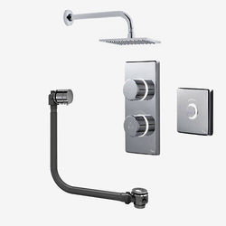 Digital Showers Digital Shower Pack, Bath Filler, Remote & Square Head (HP)