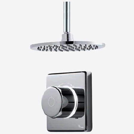 "Digital Showers Digital Shower Valve, Ceiling Arm & 8"" Shower Head (LP)."