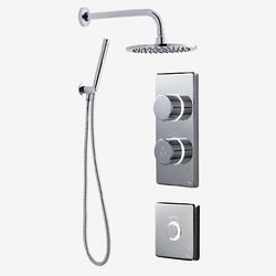Digital Showers Twin Digital Shower Pack, Round Head, Remote & Kit (LP).