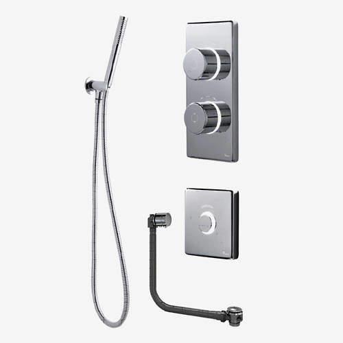 Digital Showers Twin Digital Shower Pack, Filler, Shower Kit & Remote (LP).