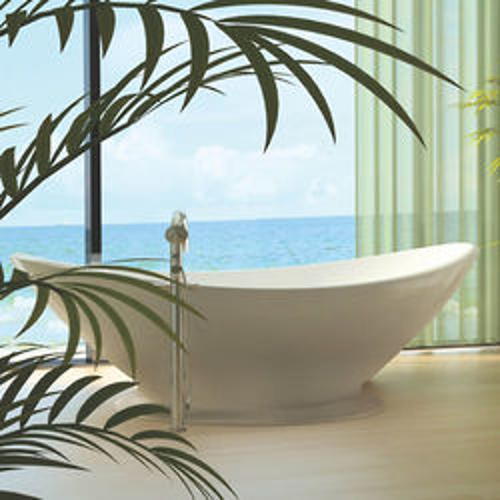 BC Designs Kurv Bath With Plinth 1890mm (Polished White).