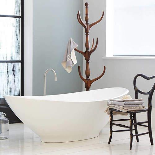 BC Designs Kurv Bath 1890mm (Polished White).