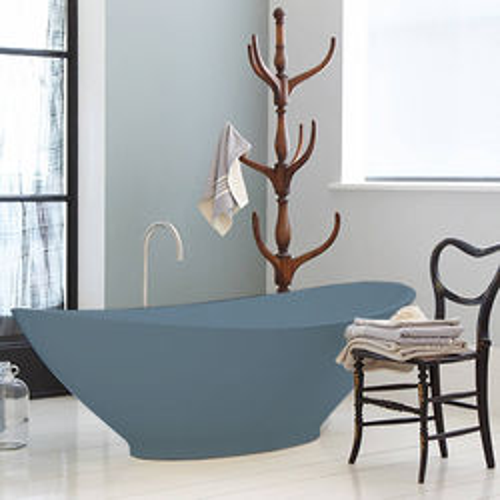BC Designs Kurv ColourKast Bath 1890mm (Powder Blue).