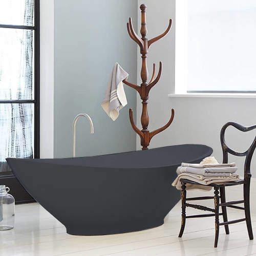 BC Designs Kurv ColourKast Bath 1890mm (Gunmetal).