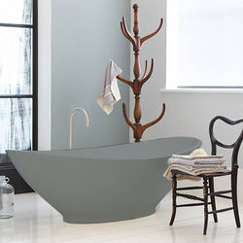 BC Designs Kurv ColourKast Bath 1890mm (Industrial Grey).