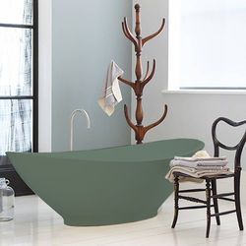 BC Designs Kurv ColourKast Bath 1890mm (Khaki Green).
