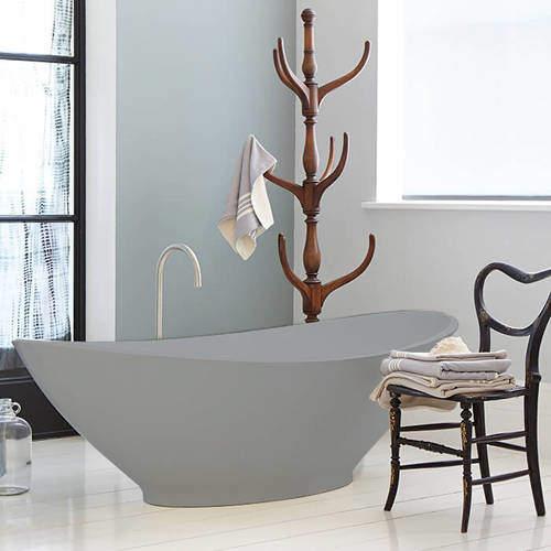 BC Designs Kurv ColourKast Bath 1890mm (Powder Grey).
