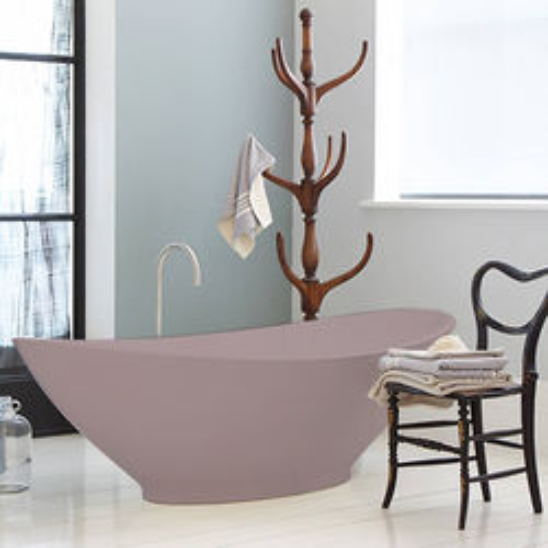 BC Designs Kurv ColourKast Bath 1890mm (Satin Rose).