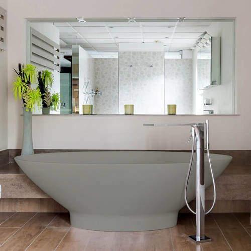 BC Designs Tasse ColourKast Bath 1770mm (Industrial Grey).
