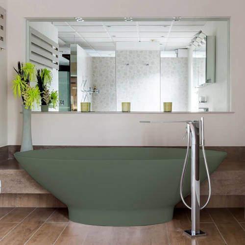 BC Designs Tasse ColourKast Bath 1770mm (Khaki Green).