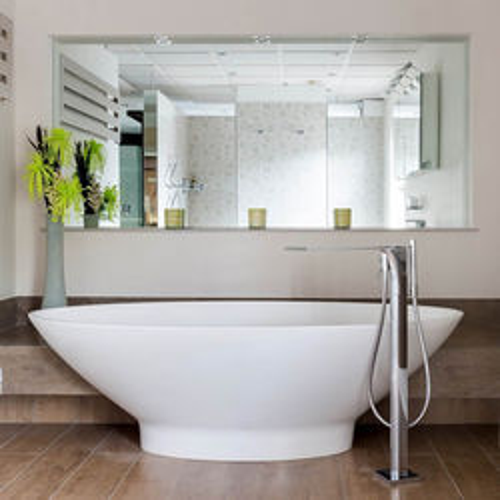 BC Designs Tasse Bath 1770mm (Matt White).
