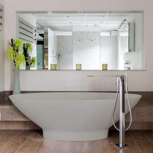 BC Designs Tasse ColourKast Bath 1770mm (Powder Grey).