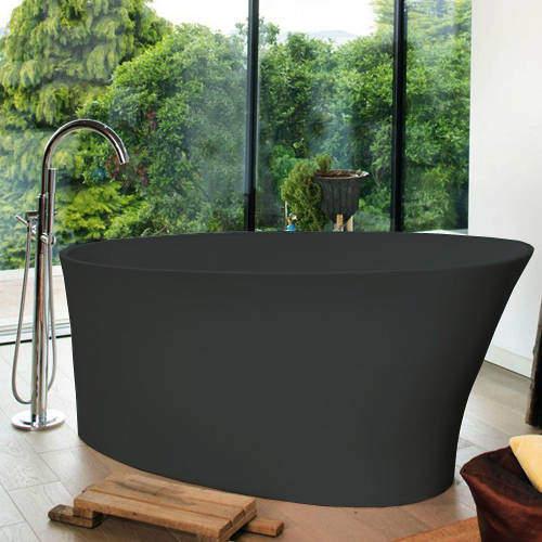 BC Designs Delicata ColourKast Bath 1520mm (Gunmetal).