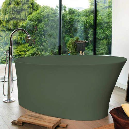 BC Designs Delicata ColourKast Bath 1520mm (Khaki Green).