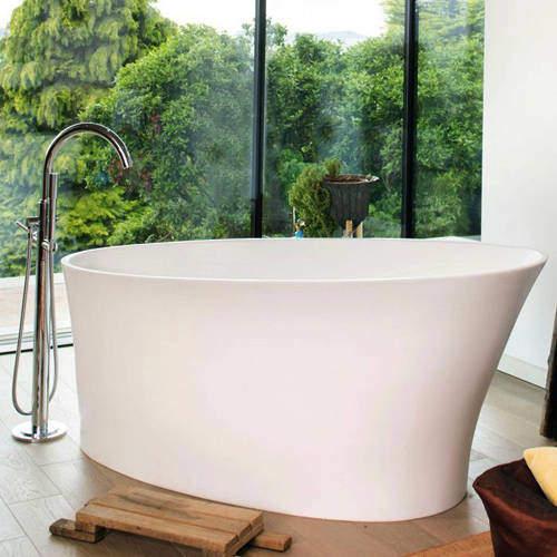 BC Designs Delicata Bath 1520mm (Matt White).