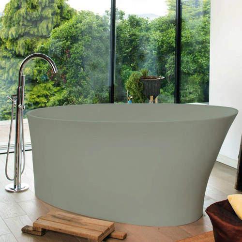 BC Designs Delicata ColourKast Bath 1520mm (Powder Grey).