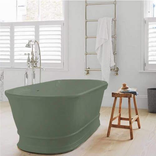 BC Designs Aurelius ColourKast Bath 1740mm (Khaki Green).