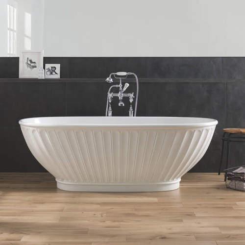 BC Designs Casini Bath 1680mm (Matt White).