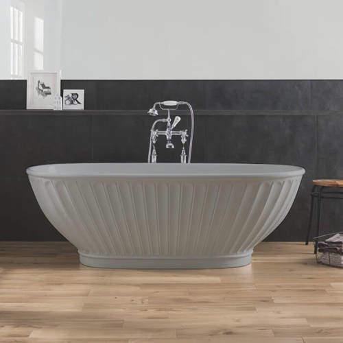 BC Designs Casini ColourKast Bath 1680mm (Powder Grey).