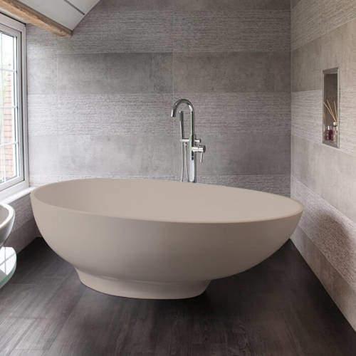 BC Designs Gio ColourKast Bath 1645mm (Light Fawn).
