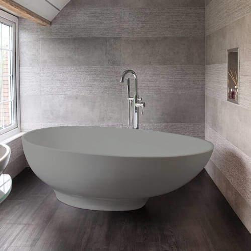 BC Designs Gio ColourKast Bath 1645mm (Industrial Grey).