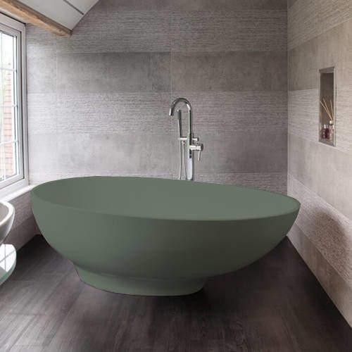 BC Designs Gio ColourKast Bath 1645mm (Khaki Green).