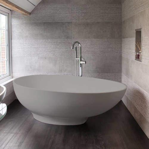 BC Designs Gio ColourKast Bath 1645mm (Powder Grey).