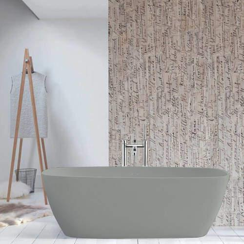 BC Designs Vive ColourKast Bath 1610mm (Industrial Grey).
