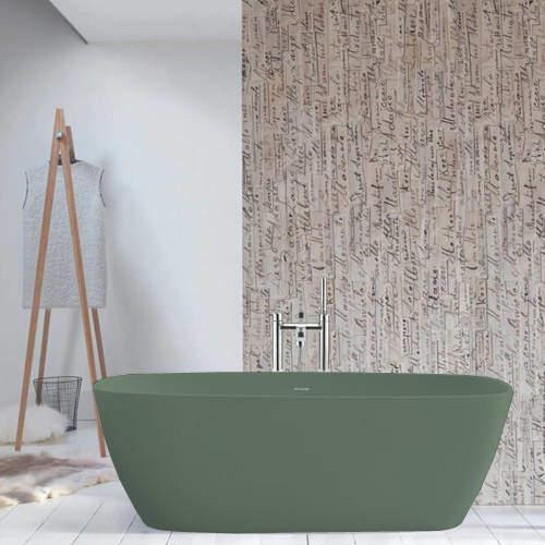 BC Designs Vive ColourKast Bath 1610mm (Khaki Green).
