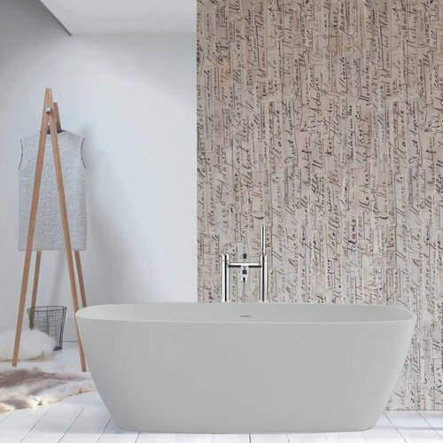 BC Designs Vive ColourKast Bath 1610mm (Powder Grey).
