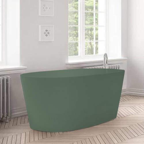 BC Designs Sorpressa ColourKast Bath 1510mm (Khaki Green).