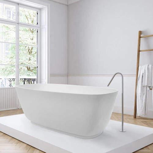 BC Designs Divita Bath 1495mm (Matt White).