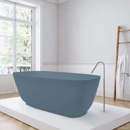 BC Designs Divita ColourKast Bath 1495mm (Powder Blue).