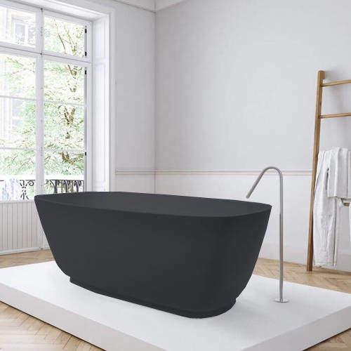 BC Designs Divita ColourKast Bath 1495mm (Gunmetal).