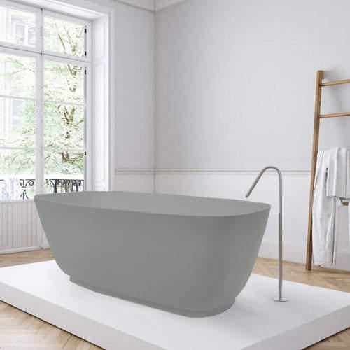 BC Designs Divita ColourKast Bath 1495mm (Industrial Grey).