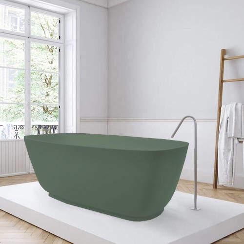 BC Designs Divita ColourKast Bath 1495mm (Khaki Green).