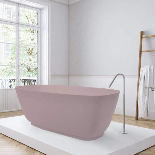BC Designs Divita ColourKast Bath 1495mm (Satin Rose).