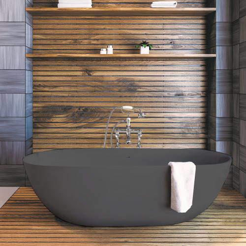 BC Designs Crea ColourKast Bath 1665mm (Gunmetal).