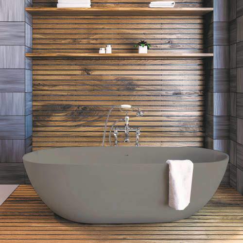 BC Designs Crea ColourKast Bath 1665mm (Industrial Grey).
